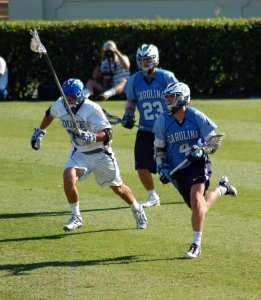 Men's field lacrosse game between UNC and Duke